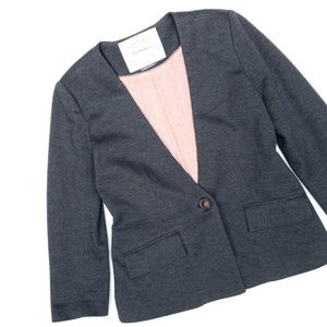 Anthropologie Cartonnier Charcoal Fabric Blazer